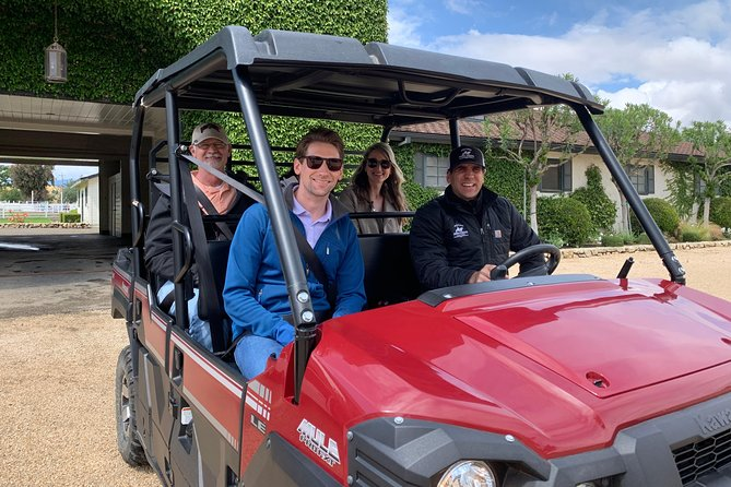 BONUS - go off roading in the vineyard in a ranch vehicle for a private tour of the vineyards with the owner and/  or winemaker.