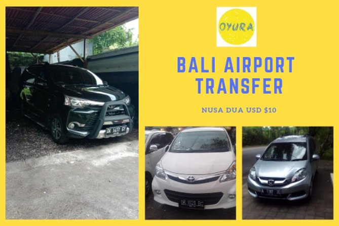 Bali Airport Transfer NUSA DUA AREA by Oyura