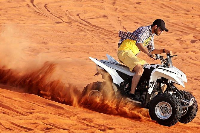 Desert Safari with Quad Bike Sand Boarding and a Camel Ride