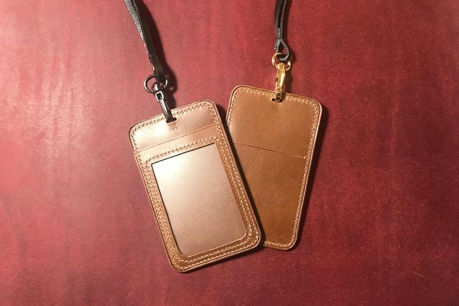 Experience leathercraft in Singapore Haji Lane : ID Cardholder