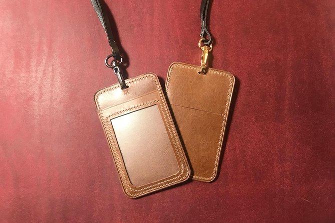 Experience leathercraft in Singapore Haji Lane : ID Cardholder