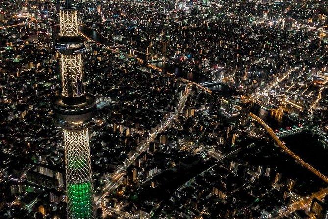 [45 Minutes] Tokyo-Yokohama Tour: Night Helicopter Tour