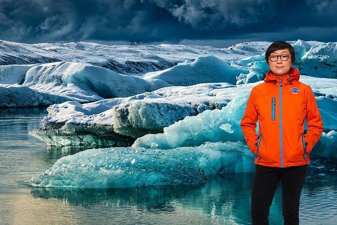 Excursão diurna pela costa sul e pela lagoa do glaciar Jökulsárlón saindo de Reykjavik