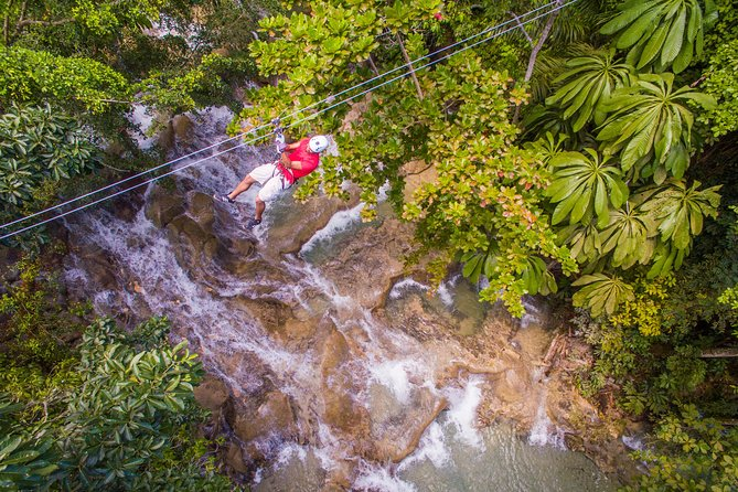 Dunn's River Falls and Zipline (Over the Falls) Adventure Tour from Ocho Rios