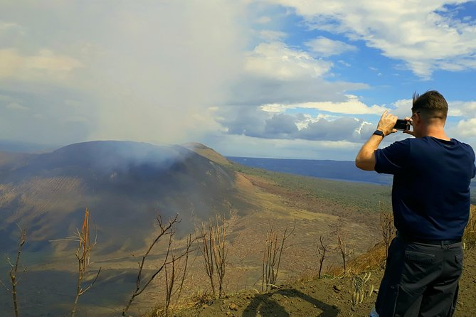 View from Masaya volcano national park in the day time