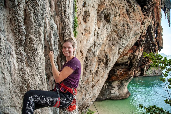 Beginner's Half-Day Rock Climbing Tours at Railay Beach Krabi