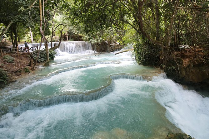 KUANGSI Waterfall & MEKONG Sunset Cruise Half Day Tour
