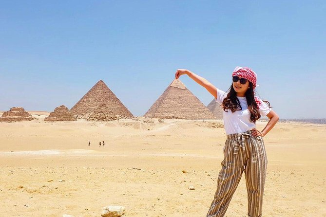 Private Full-Day Giza Pramids, Sphinx, Egyptian Museum& Bazaars From Cairo