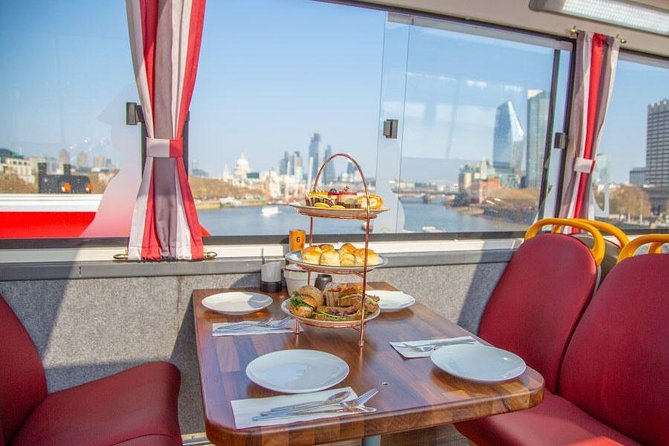 Afternoon Tea Bus with Panoramic Tour of London– Upper Deck