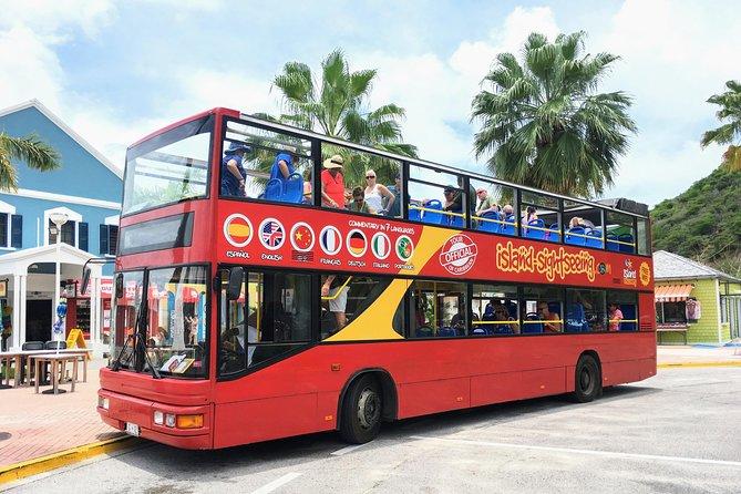 St Maarten Double Decker Bus Sightseeing Tour with Orient Bay 2021