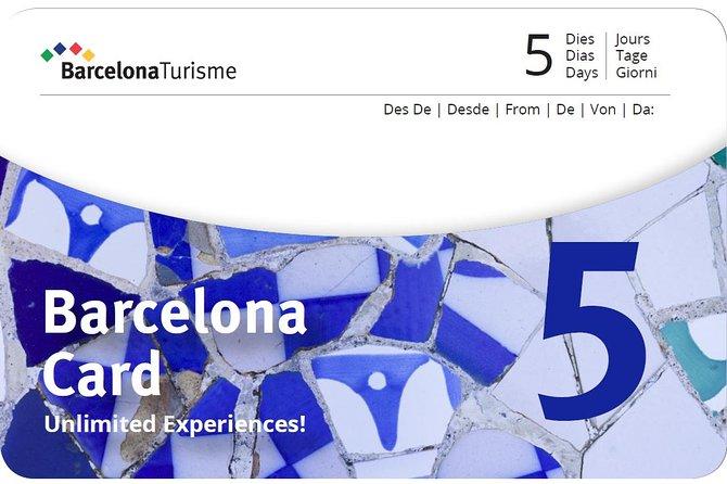 Barcelona Card. 72,96 or 120h.