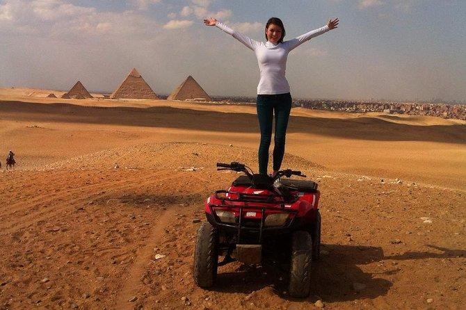 Quad Bike Ride around the Pyramids,Dinner, then the Sound & Light Show