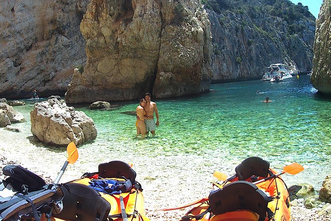 Excursion Kayak Granadella + Snorkeling + Picnic + Photos + Visit Caves