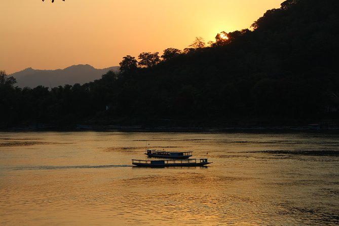 Private Tour Mekong River Sunset Boat Cruise, Kuang Si Waterfalls, Pak Ou Cave