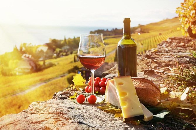 Outdoor wine and cheese tasting.