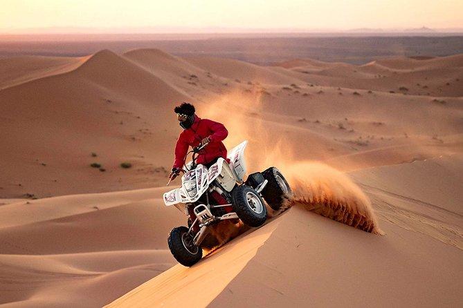 Premium Red Dunes Safari,30 Min Quad Bike,Sand Boarding,Camel Ride & BBQ Dinner