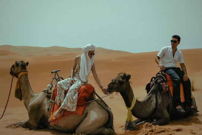 2 DAY and 1 NIGHT in LUXURIOUS DESERT CAMP with CAMEL RIDE IN THE SAHARA DESERT