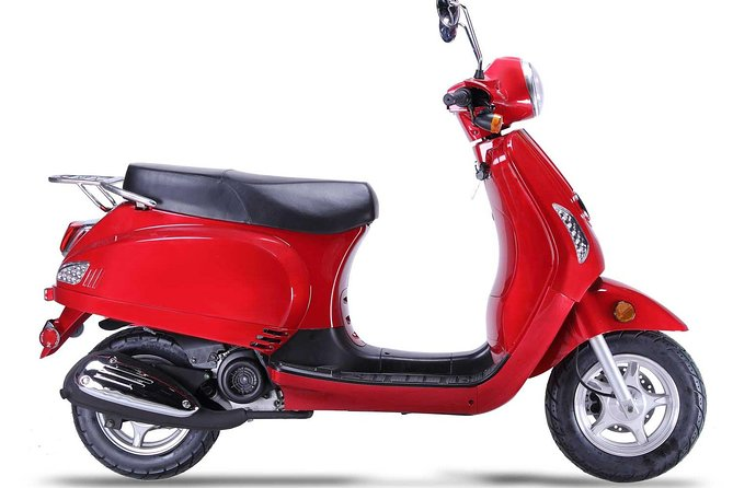 "Rentals Scooter 5 Hours +3 HR Free , 2 Passengers Retro ""Lucky "" 49cc"