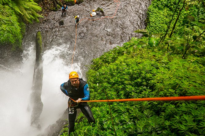 Intermediate canyoning trip in Bali Airwana Canyon