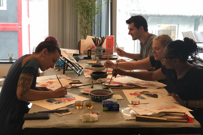 3-Hour Tradtional Ink and Brush Painting with Calligraphy Workshop in Beijing photo 7