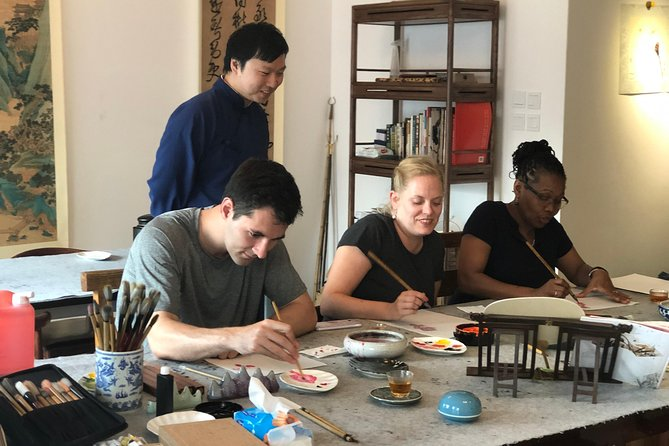 3-Hour Tradtional Ink and Brush Painting with Calligraphy Workshop in Beijing photo 2