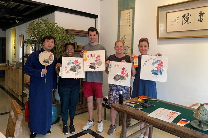 3-Hour Tradtional Ink and Brush Painting with Calligraphy Workshop in Beijing photo 1