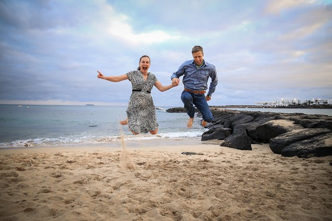 Sunset photo shooting at the beach, Lanzarote