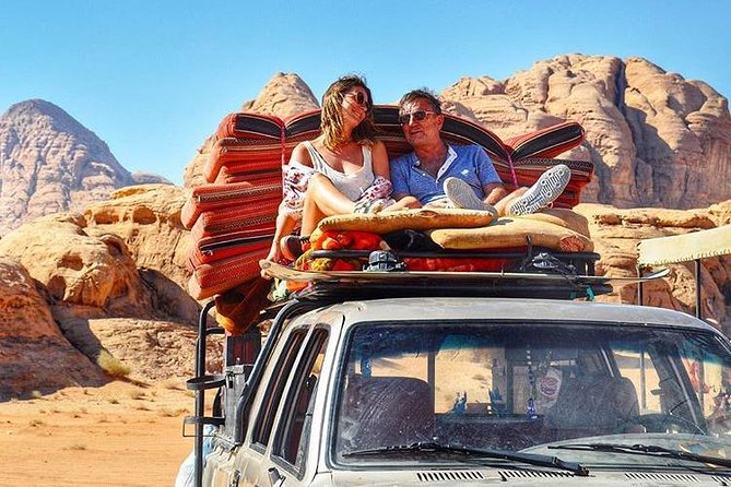 Full Day Jeep Tour with Overnight in beduin Camp Stay! (All Meals Included)