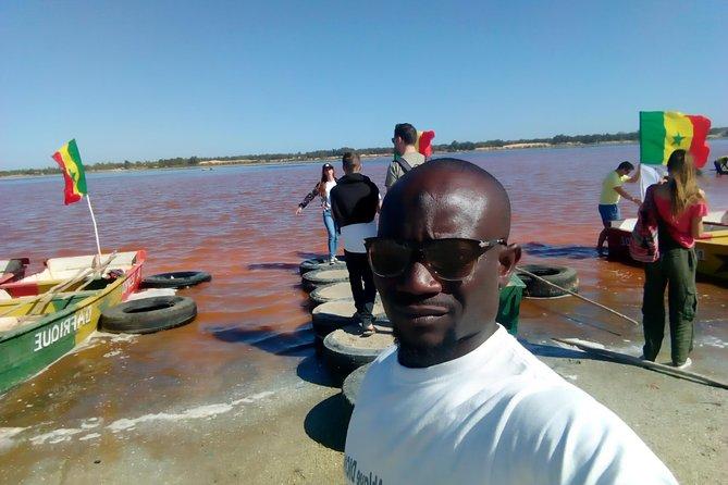 Pink lake with Bandia réserve wildlife minimum 2 people