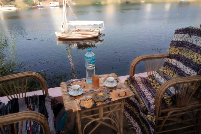 Swimming in the Nile River at Soheil Island Aswan