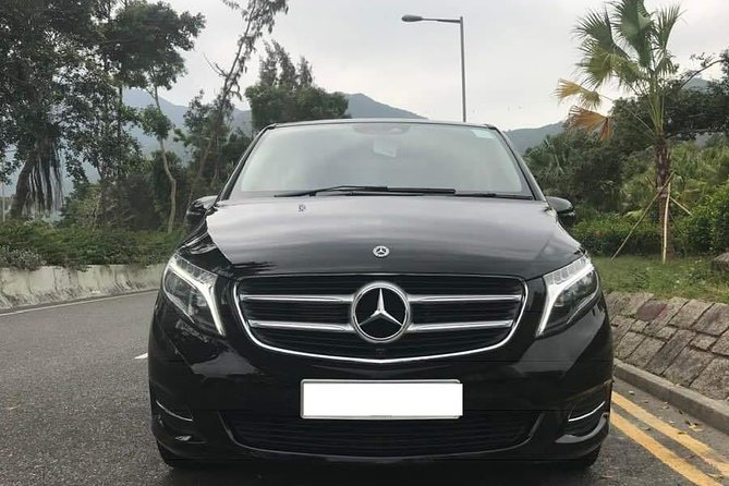 HK Private Luxury V Class Arrival Transfer: Airport to Hotel with Meet and Greet