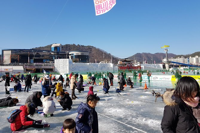 Private experience for Ice fishing and Ski from Seoul to Gangwon-do