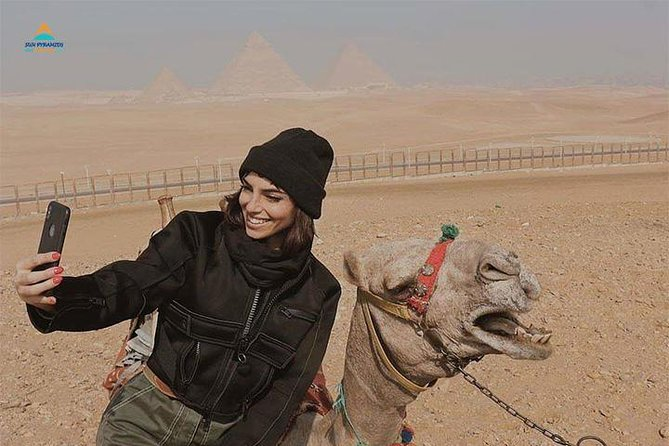 Giza Pyramids by Camel photo 2