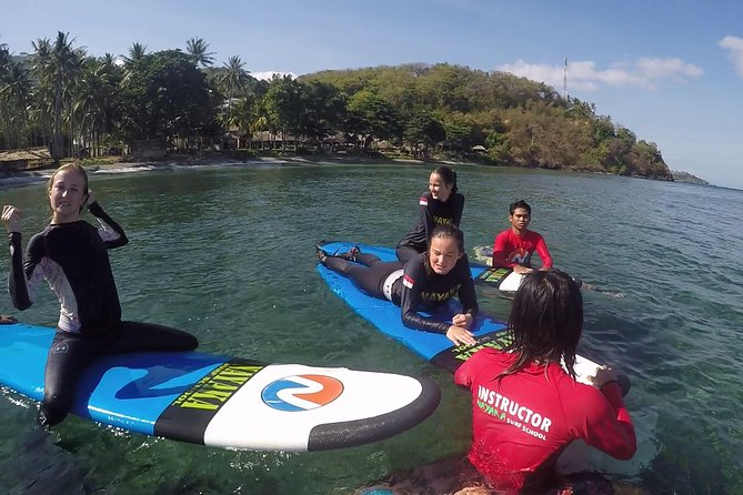 7 days surf lessons Senggigi Lombok