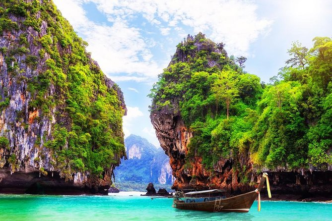 Hong Island By Long Tail Boat From Krabi