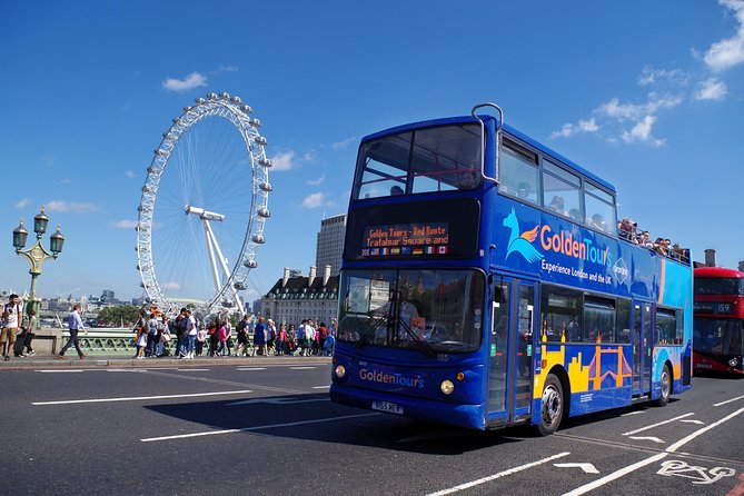 London Hop-On Hop-Off Bus Ticket with Optional KidZania Entry