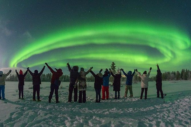 PRIVATE Fabulous show tour search for the Northern Lights by VIP car Rovaniemi