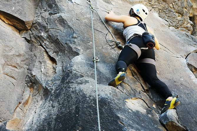 Rock climbing in natural space. photo 1