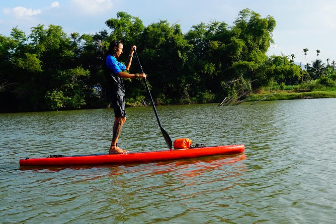Stand Up Paddle Boarding and Sunset Watching on Cai River