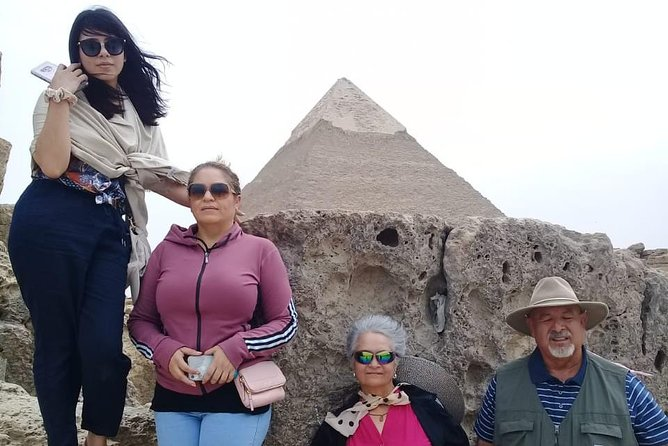 guided trip Giza Pyramids Sphinx Memphis Sakkara step pyramids Cairo or Giza