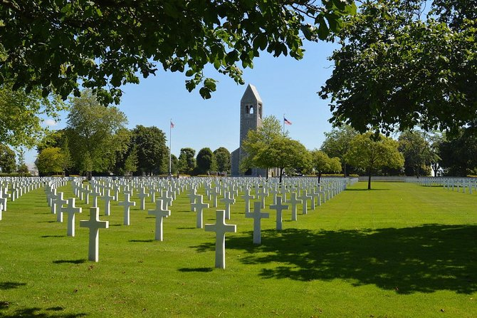 Private guided shuttle to Brittany American Cemetery and Mont Saint Michel