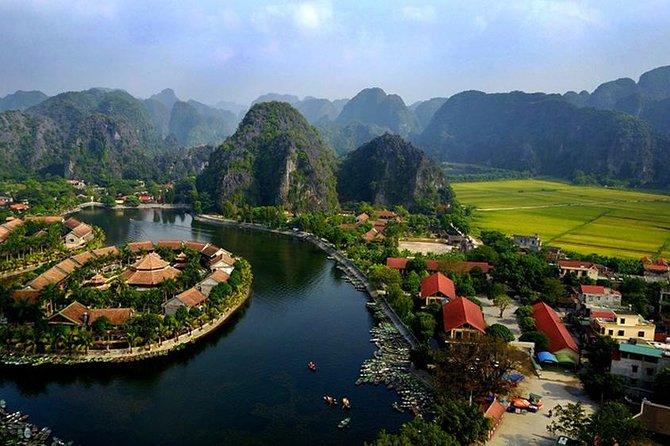 Hoa Lu Tam Coc Full-Day Small Group Tour: BUFFET LUNCH, Boat Ride, Biking