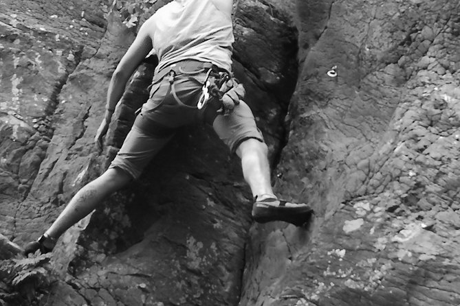 Rock climbing in natural space. photo 29