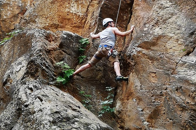 Rock climbing in natural space. photo 16