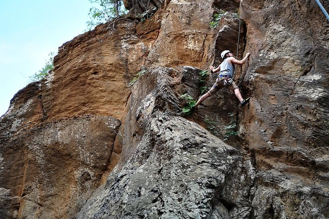 Rock climbing in natural space. photo 25