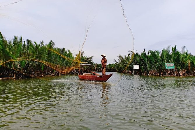 Hoi An Eco Tour with Bamboo Basket Boat & Fisherman from Da Nang or Hoi An city