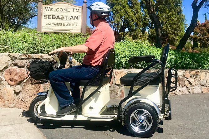 Sonoma Valley Electric Tricycle Rental and Tour