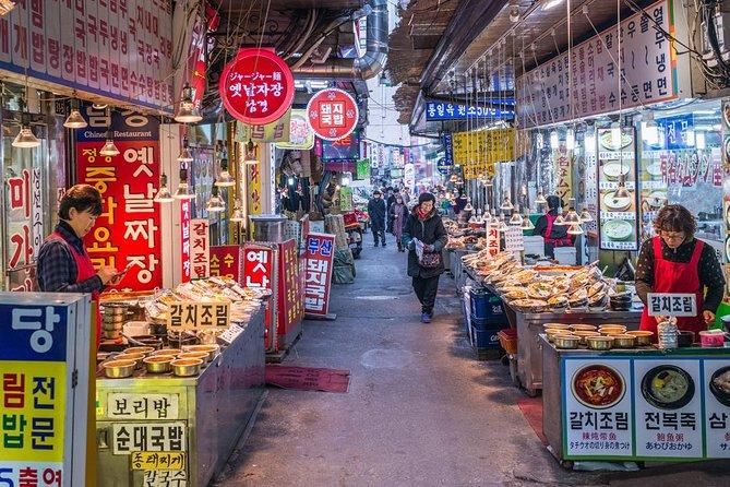 Small-gruppe Street Food Tour af Namdaemun Market med middag