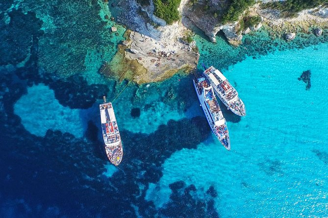 Full-Day Boat Tour of Paxos Antipaxos Blue Caves from Corfu