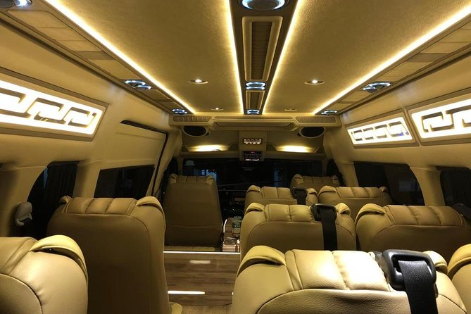Midnight Airport Departure Transfer in Limo-Bus